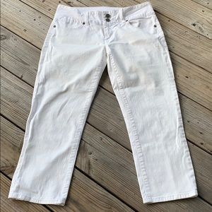 Talbots signature crop white jeans